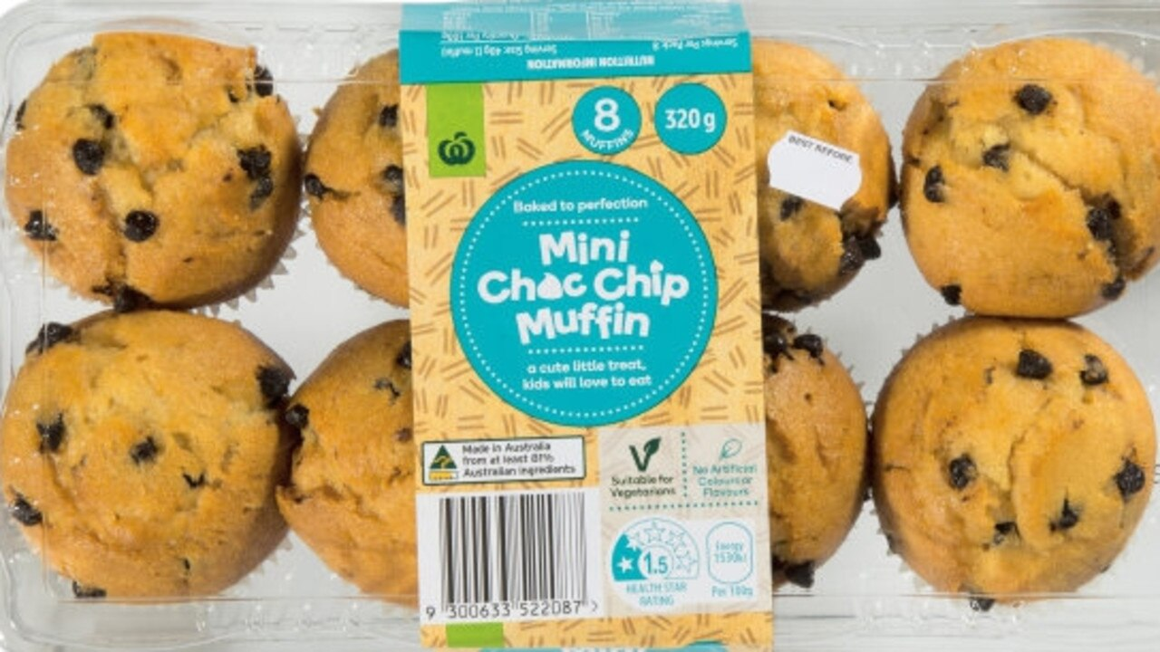 Woolworths – Mini Choc Chip Muffins