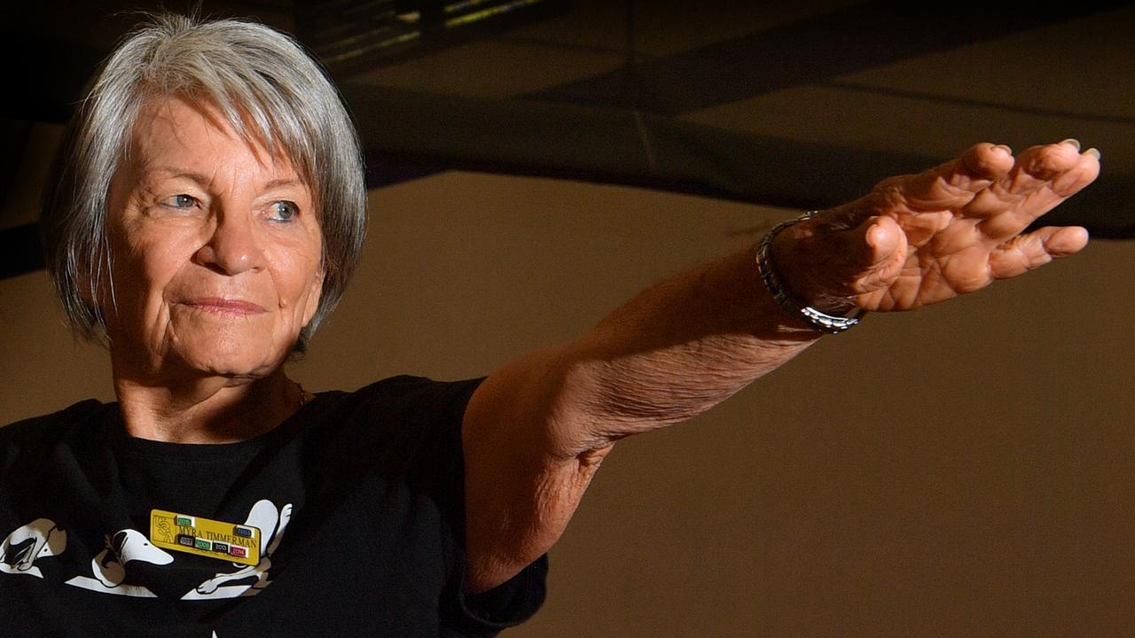 MINDFULNESS: Myra Timmerman, 84, holds yoga classes in Buderim that attract more than 150 people. Photo: John McCutcheon.