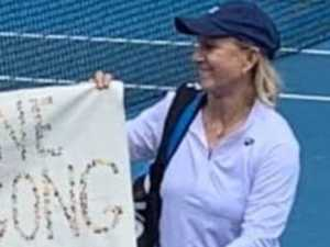 Tennis icon's extraordinary protest against 'hateful' Court