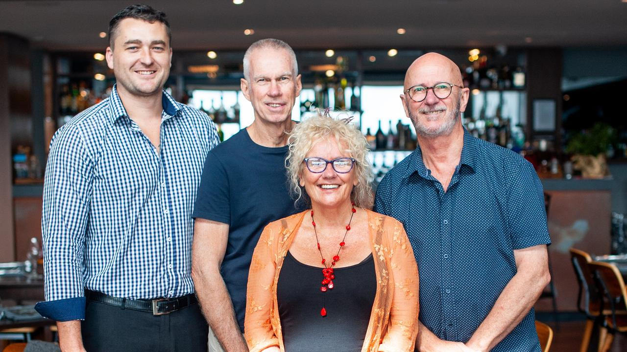 DOING THEIR BIT: Ryan Purcell, of Altitude on Montville, Gary Myers, Tony Gill, of Art on Cairncross, and Tina Cooper, of Tina Cooper Art and Glass Gallery.