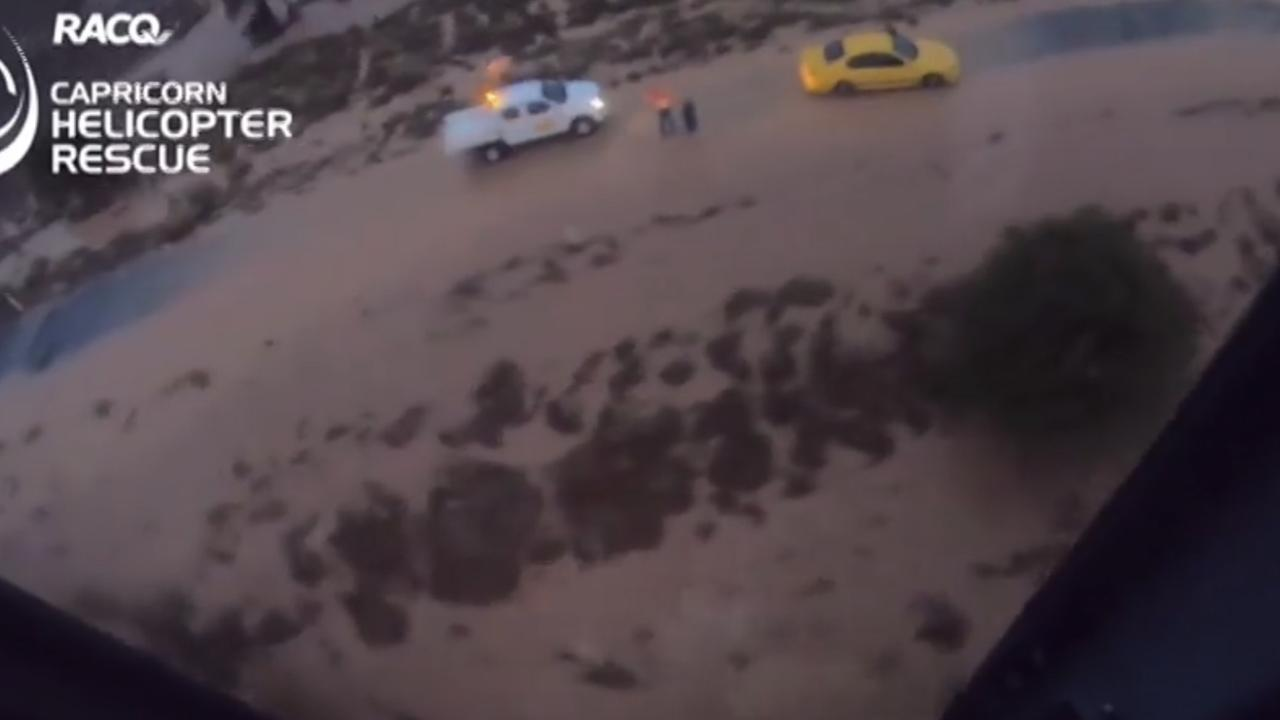 Rescue footage from flood waters near near Blackwater over the Weekend