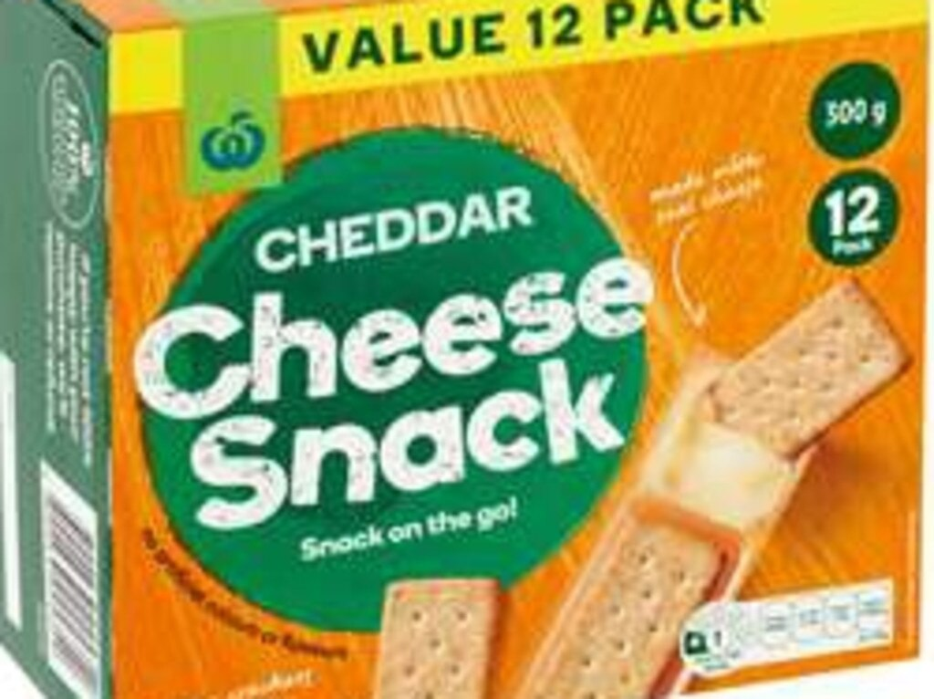 Woolworths, 12 pack Cheddar Cheese Snack on the go