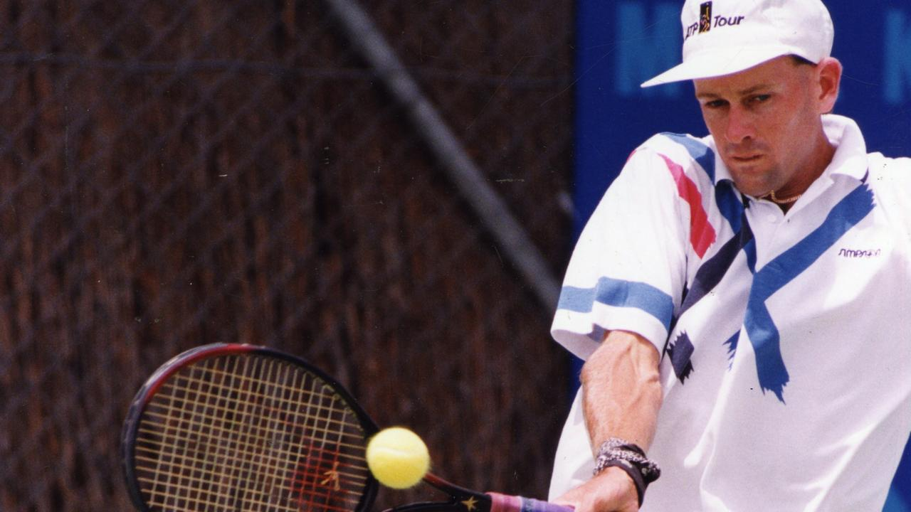 FLASHBACK: Queensland tennis player Peter Tramacchi in the Australian Hardcourt Championship at Memorial Drive, North Adelaide, January 3, 1994.