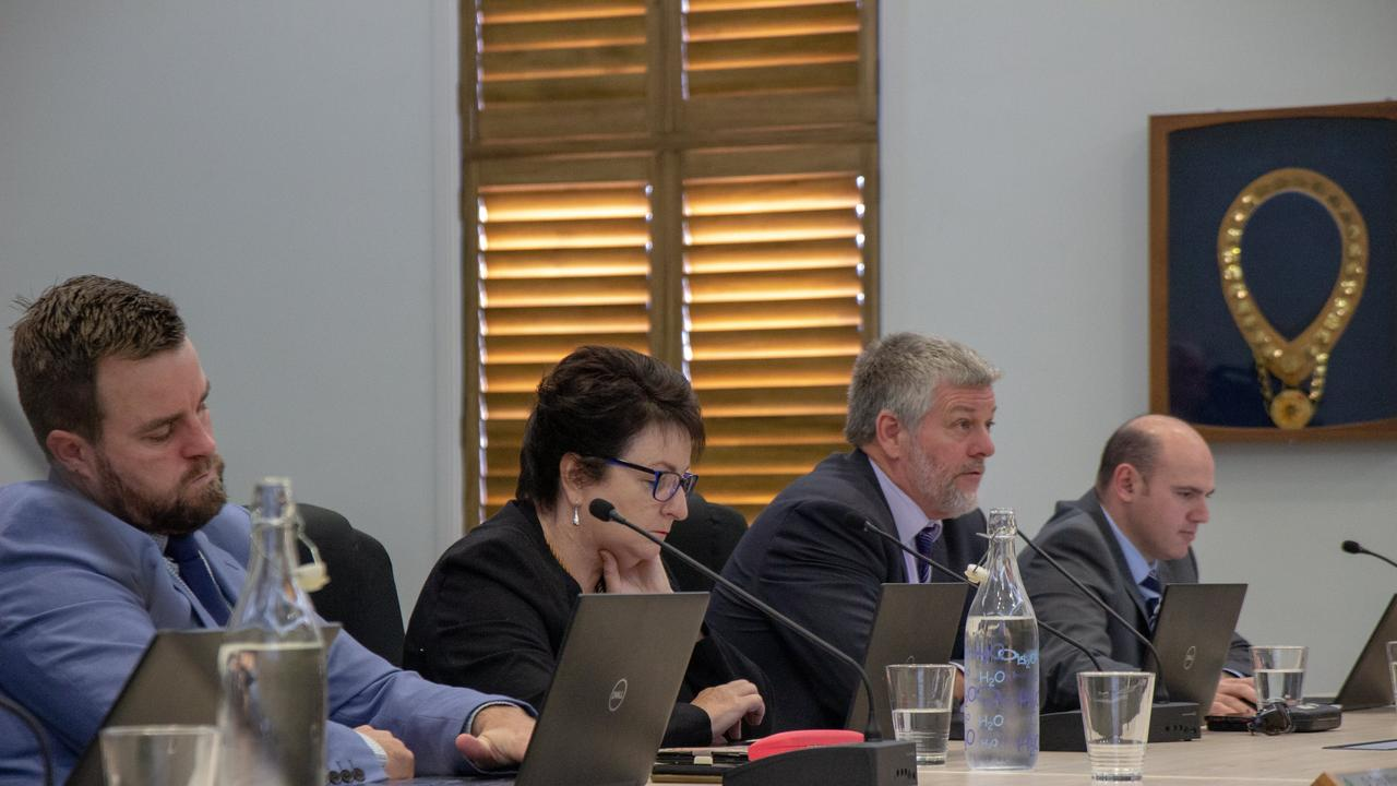 PLEASE EXPLAIN: Lockyer Valley finance portfolio councillor Chris Wilson (left) defended the council's spending, despite it flying in the face of it's support for the Town Proud shop local initiative. Picture: Dominic Elsome