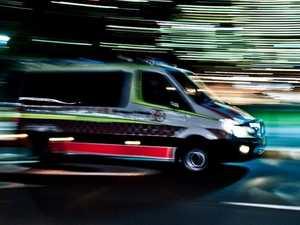 Man taken to hospital after car crash out west