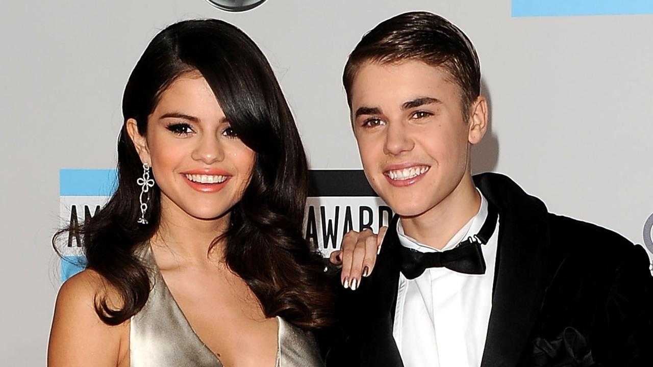 Selena Gomez and Justin Bieber at the 2011 American Music Awards in LA on November 20, 2011 in Los Angeles, California. Picture: Jason Merritt/Getty Images