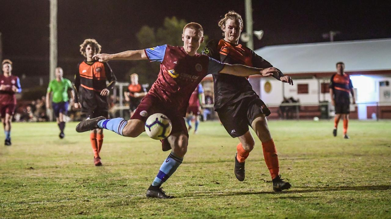 Jaryd Bennier finds space to score for Brothers Aston Villa against Granville last season. Both sides are in the FFA Cup this season.