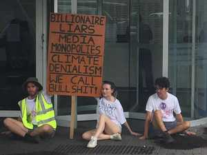 Extinction Rebellion protests outside News Corp offices