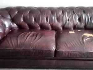 Woman stuns with cheap couch makeover