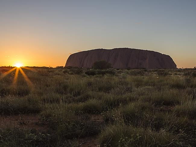 Part of the experience will be a sunrise tour of Uluru. Source:Supplied