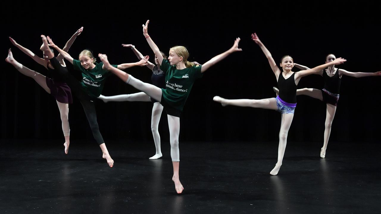 At the Queensland Ballet dance camp on the Sunshine Coast are Chelsea, Polly, Amelie, Ezri, Caitlin and Amelia. Photo: John McCutcheon / Sunshine Coast Daily