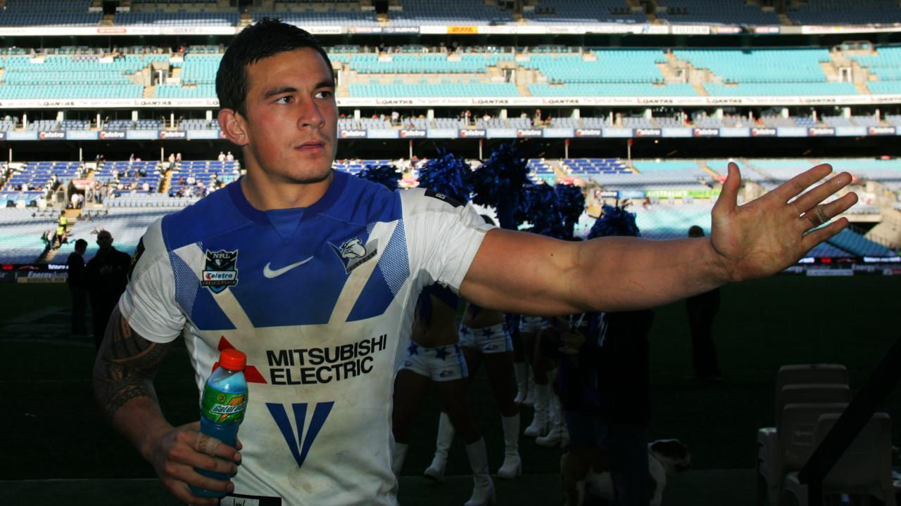 Sonny Bill Williams with the Bulldogs in 2007.