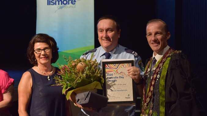 'Embarrassed, blown away': Cop's shock over award