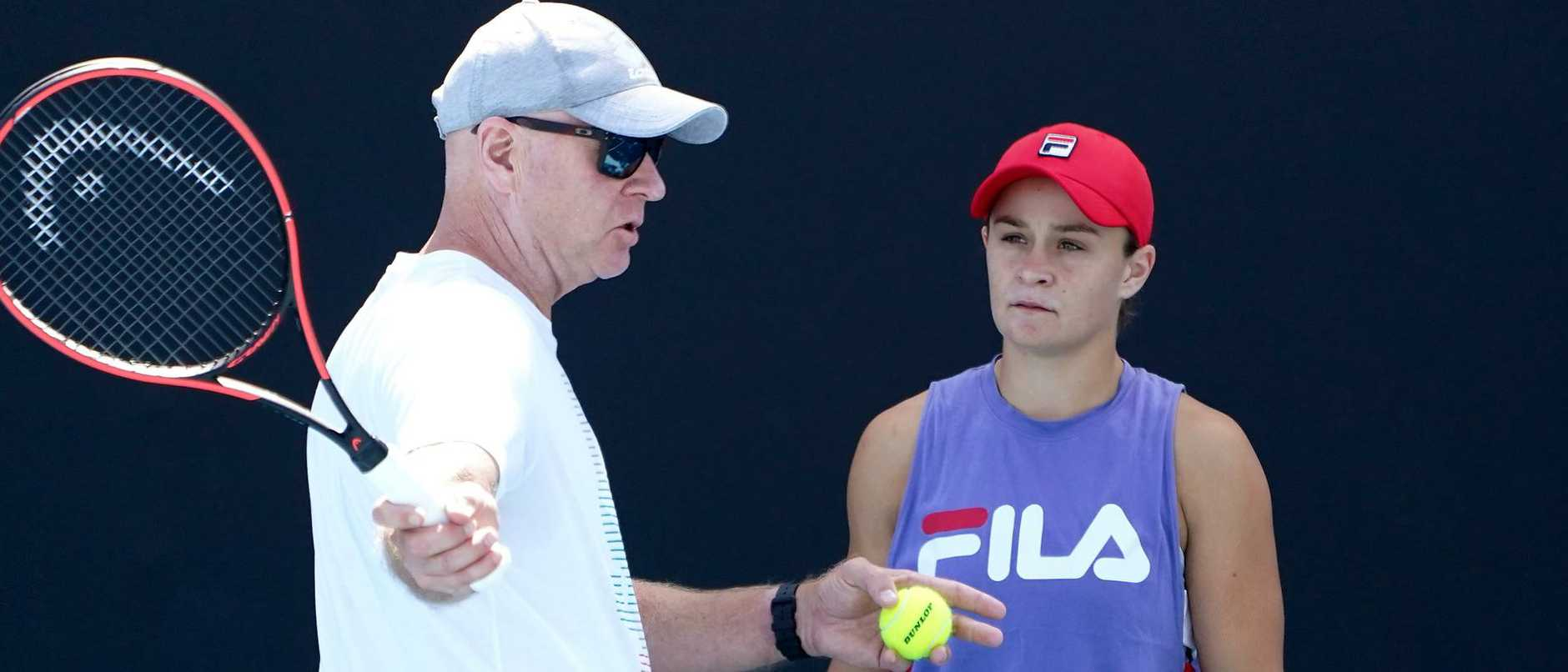 Craig Tyzzer says his young charge Ash Barty is a vastly improved player — but he expects even more. Picture: AAP.