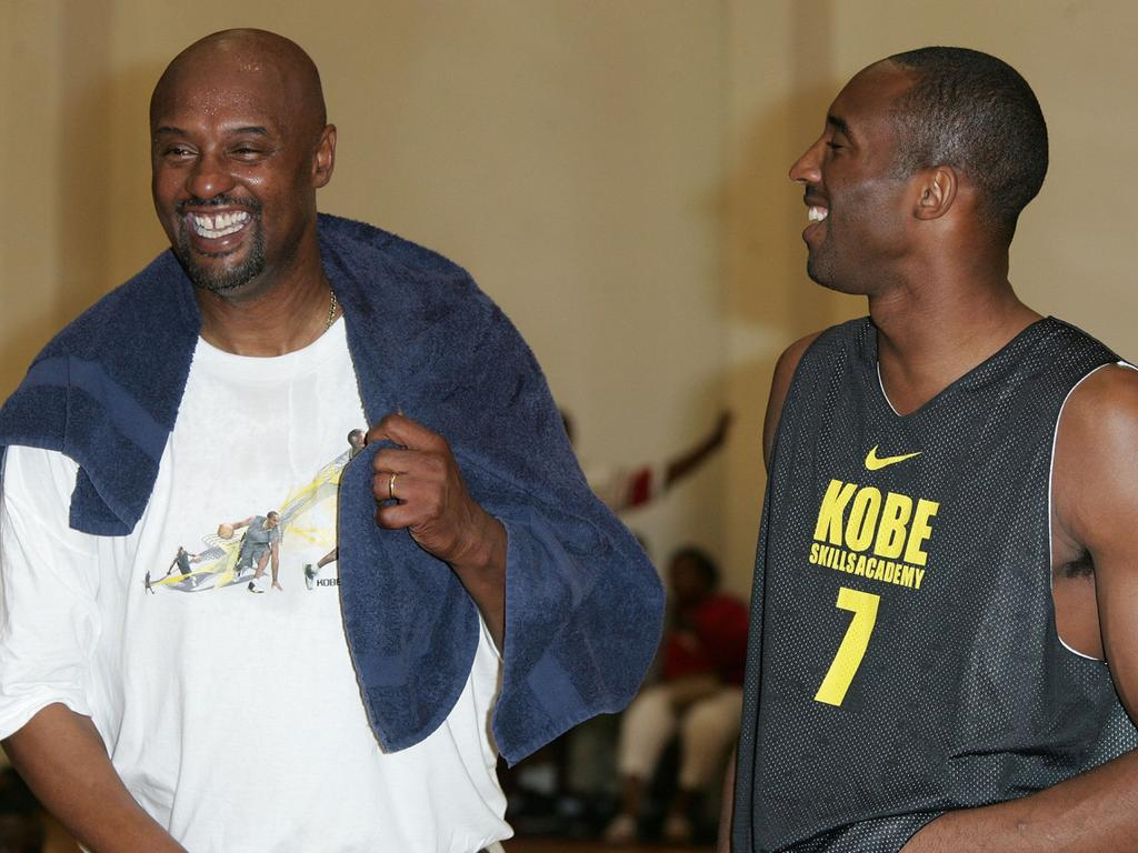 Kobe Bryant (right) with his father Joe.