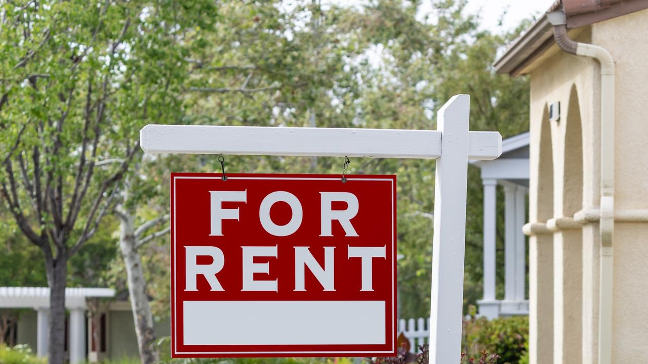 For Rent Real Estate Sign.