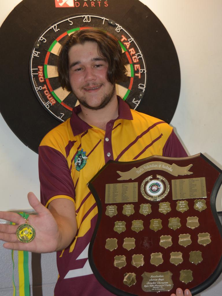 TOP AIM: Zahn Hellmuth is the Australian Under-17 singles darts champion