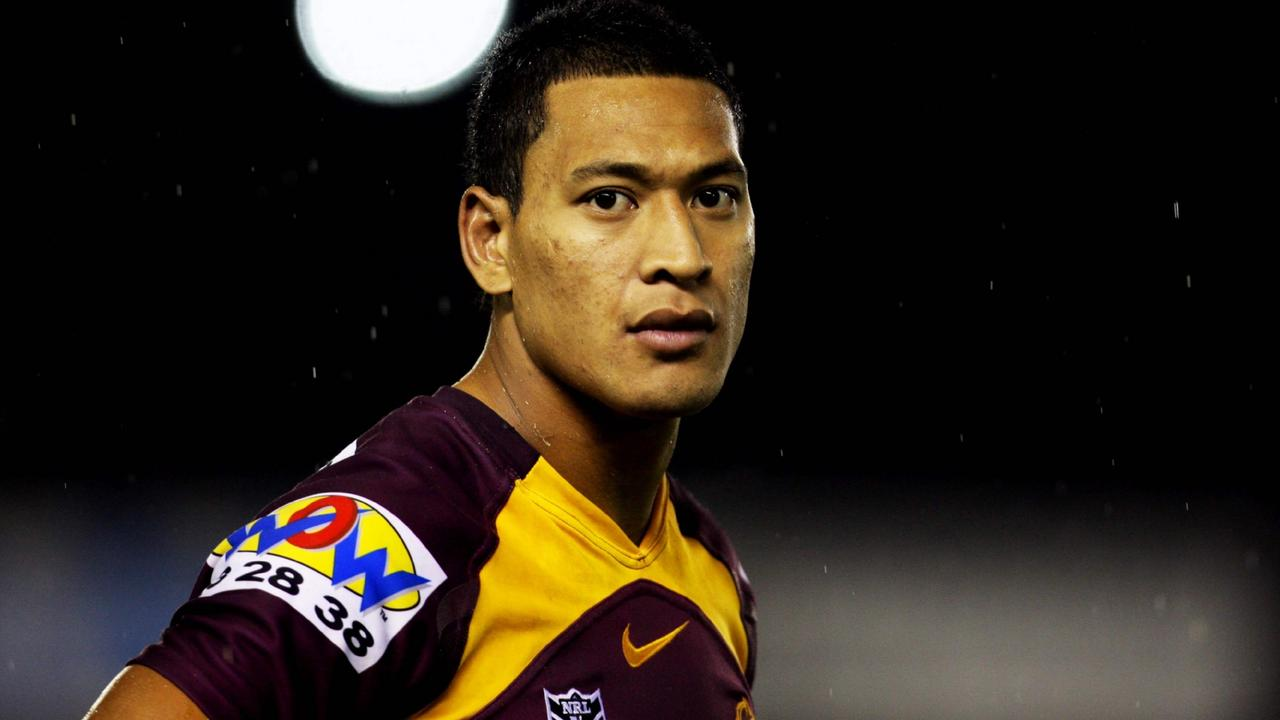 Israel Folau has not played rugby league since leaving the Brisbane Broncos in 2010 to play AFL.