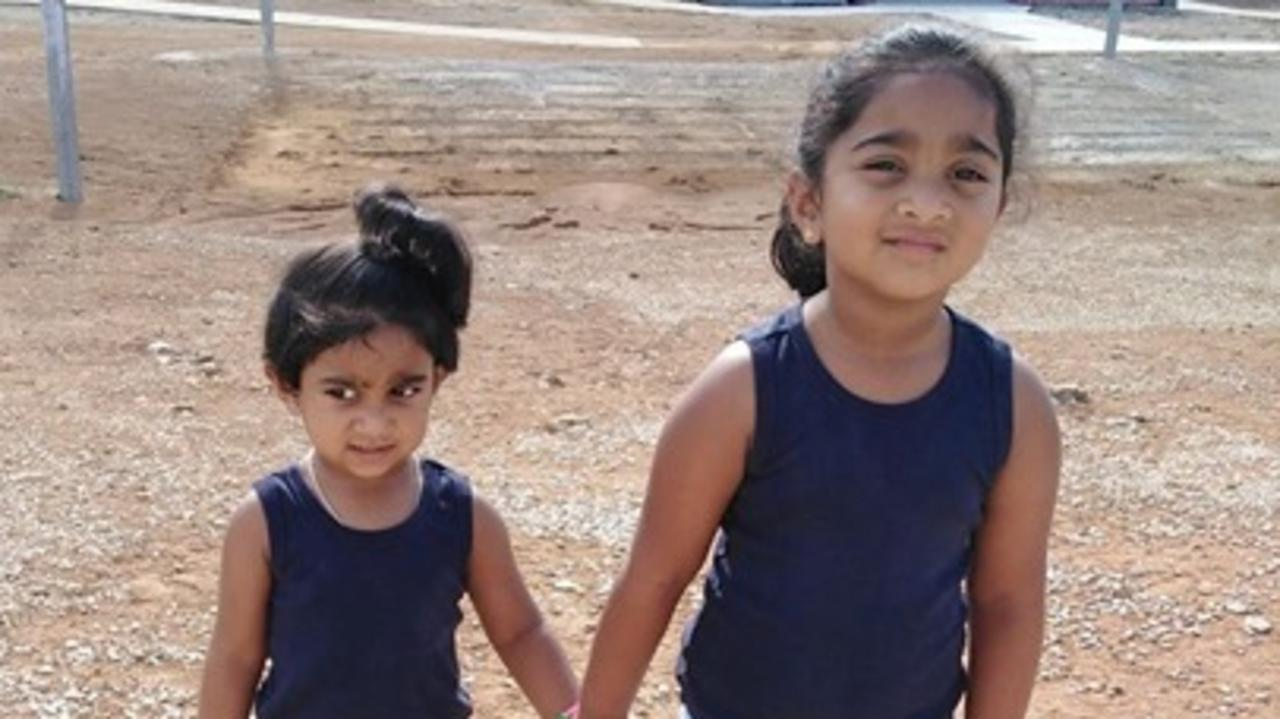 The Federal Government has announced plans to use Christmas Island, where Biloela sisters Kopika (right) and Tharunicaa are currently detained with their parents, as a quarantine base for evacuees at the centre of the coronavirus outbreak.