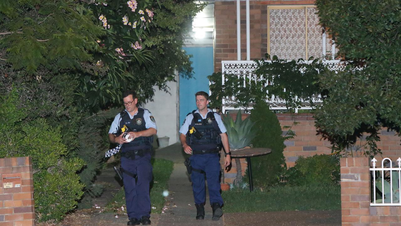 Police at the scene. Picture: Bill Hearne
