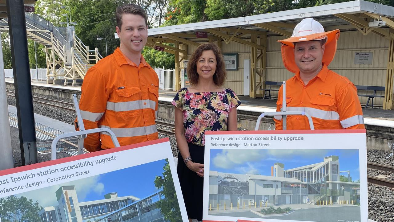 Member for Ipswich Jennifer Howard unveils concepts for the new look East Ipswich train station.