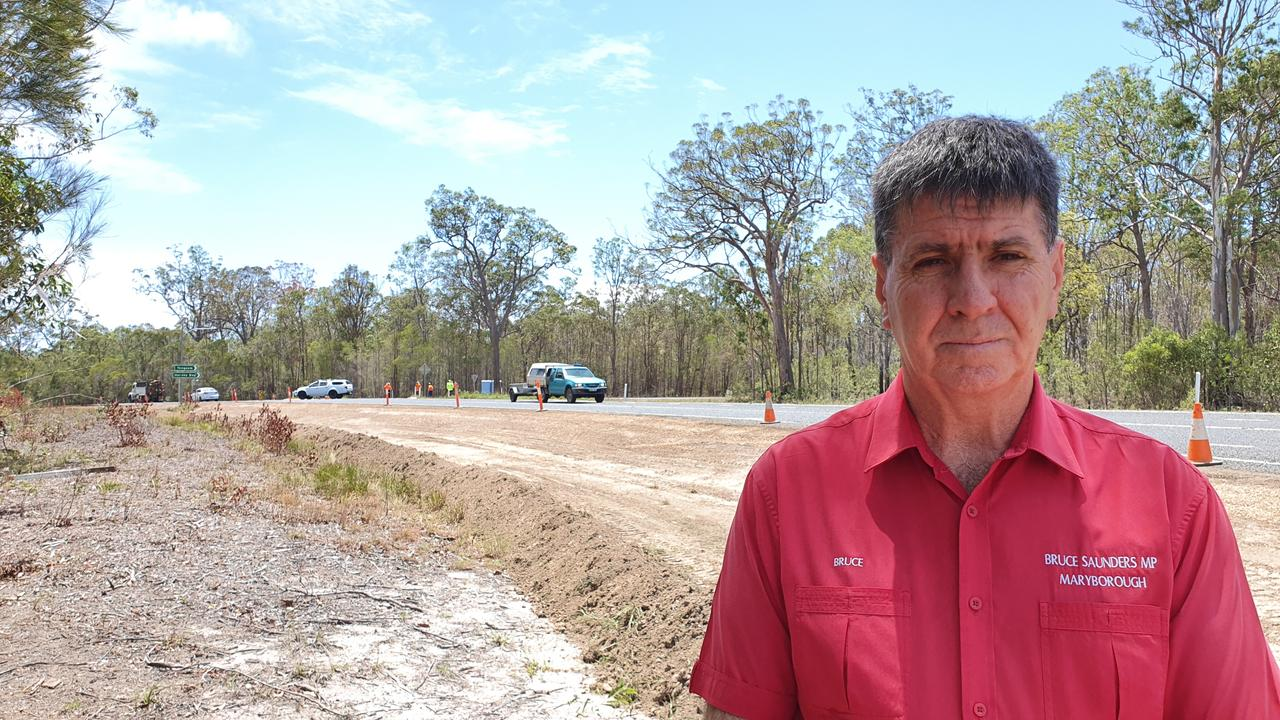 SAFER ROADS: Maryborough MP Bruce Saunders at the scene of the upgrade.