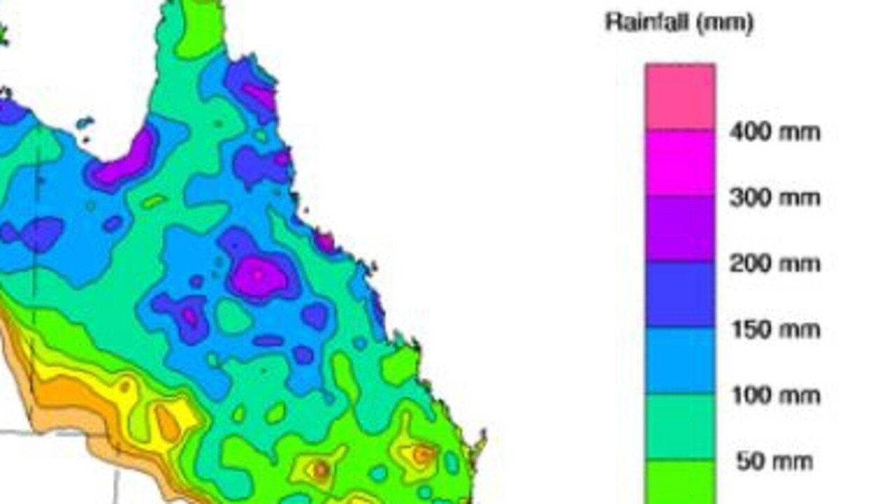 WEATHER WRAP: Rainfall totals over the past week on the east coast.   Picture: BOM
