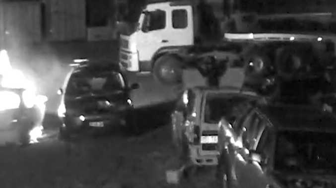 WATCH: Man sets fire to car in alleged arson attack