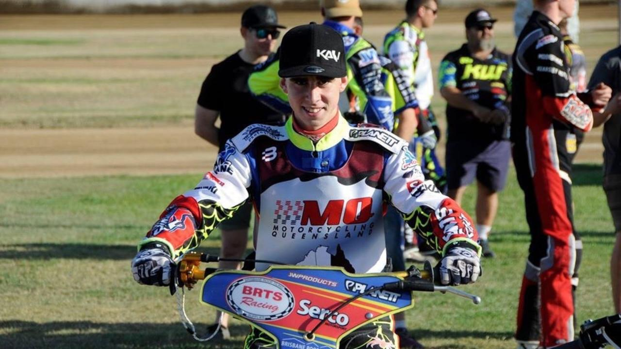 1ST PLACE: Cordell Rogerson after winning the 2019 Queensland Speedway championships. (Picture: Contributed)