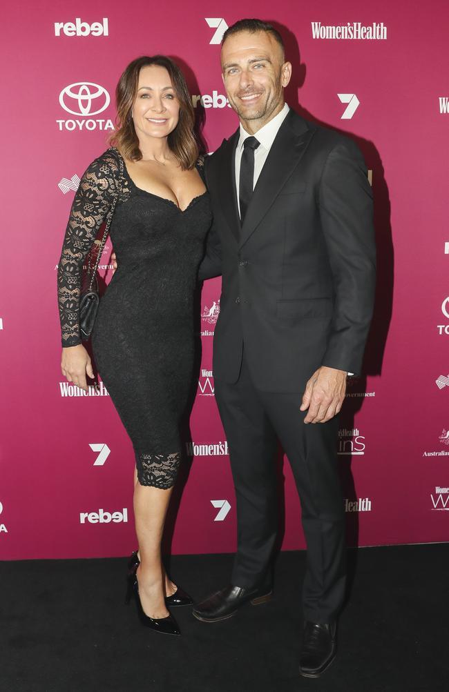 Michelle Bridges and Steve Willis. Picture: Dylan Robinson