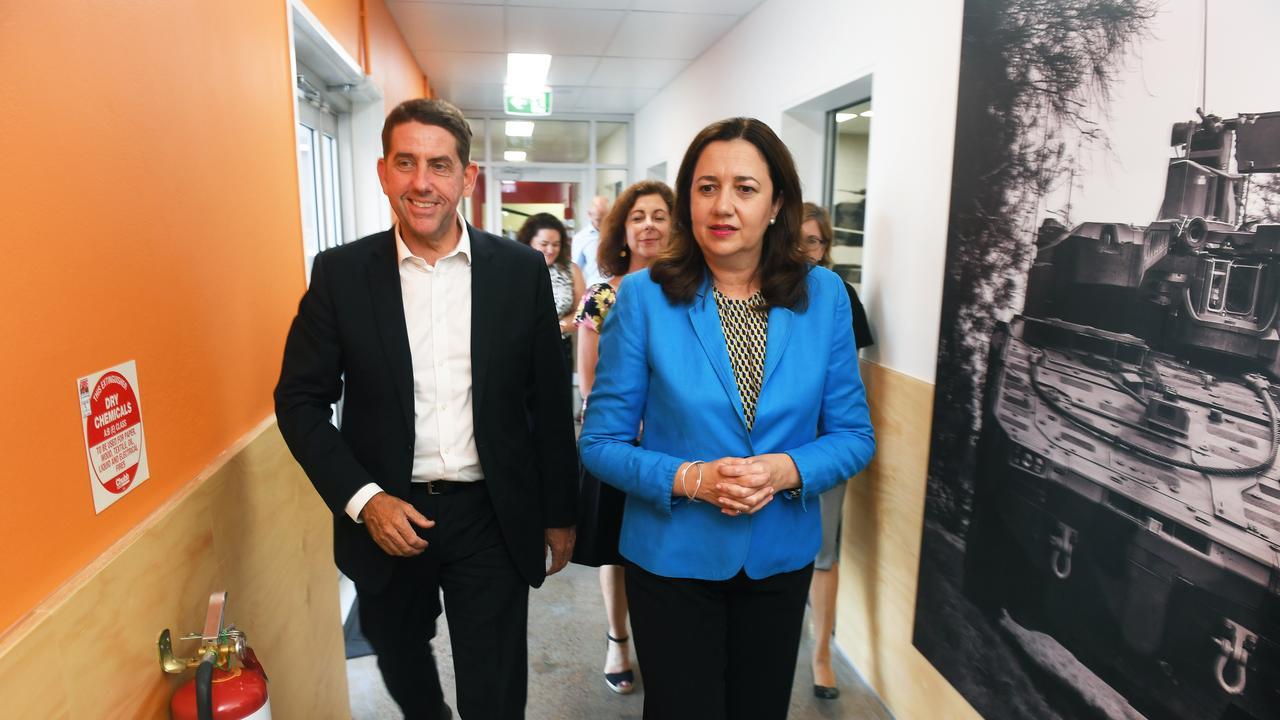 Minister for State Development Cameron Dick and Premier Annastacia Palaszczuk.