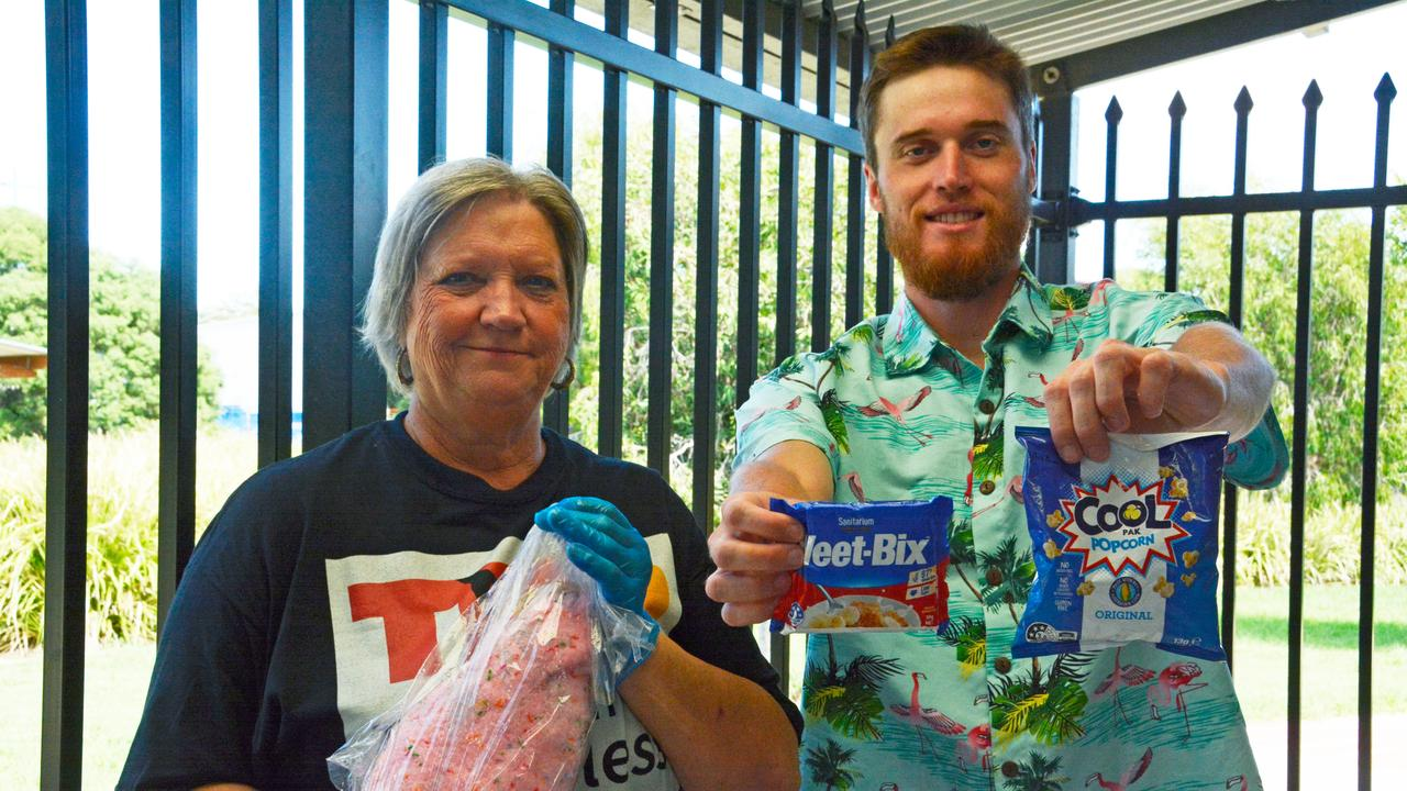 President of Toowoomba Homeless Outreach Dennel Moore with Josiah Petersen who has been using the facilities for the past three weeks.