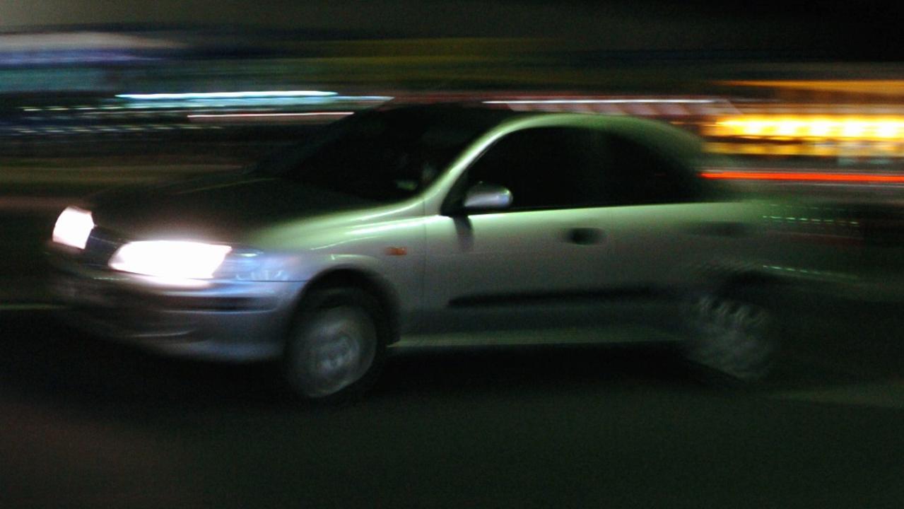 Hoons speeding in a carPhoto: Cade Mooney / Sunshine Coast Daily