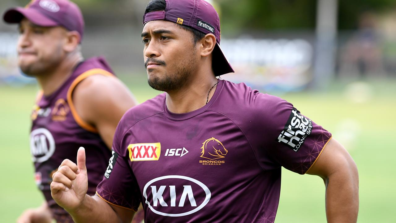 Anthony Milford at training. Broncos at training at Red Hill. Monday January 13, 2020. (AAP image, John Gass)