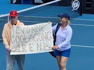 Tennis legend hangs up on radio star