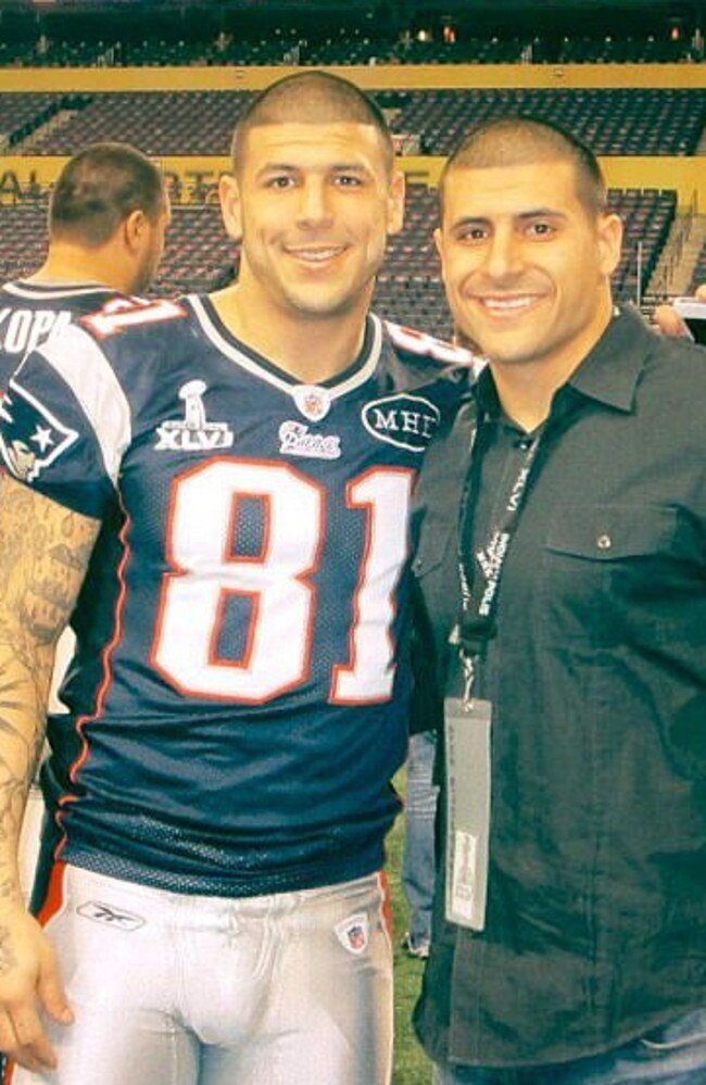 Jonathan Hernandez says NFL star brother Aaron came out to their mother. Picture: Supplied