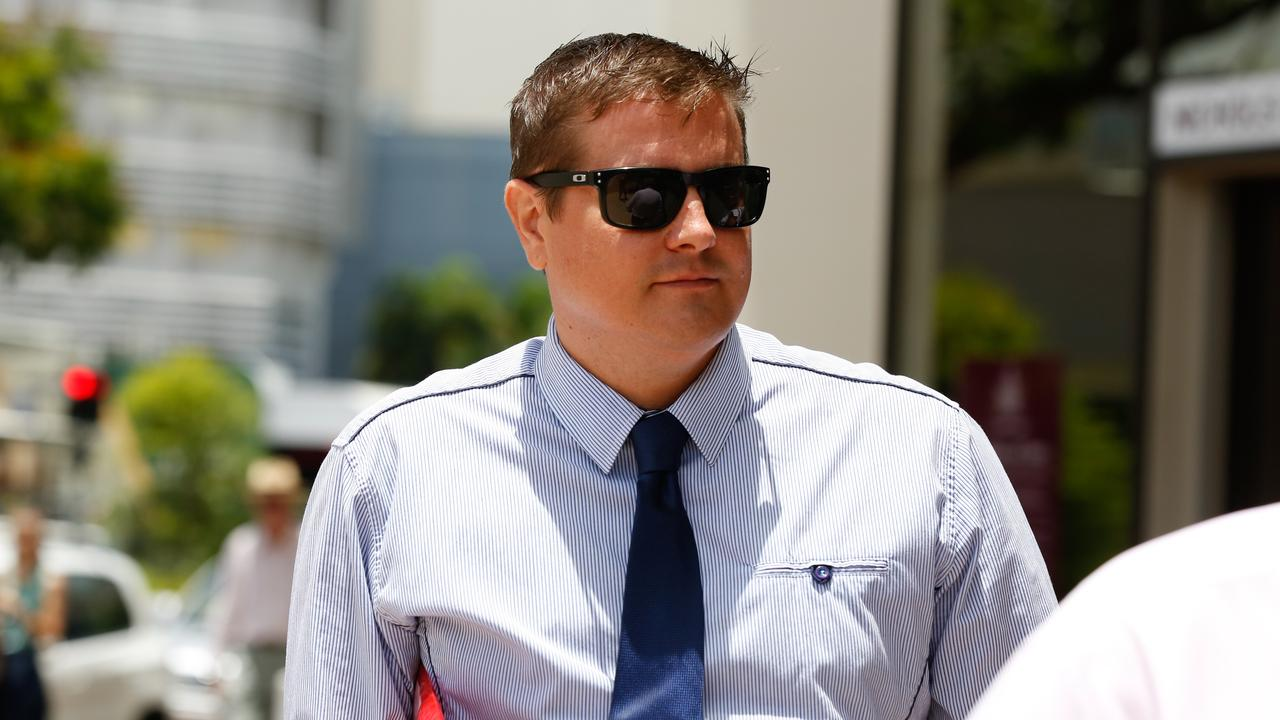 In body worn camera footage played to the court, Raymond Neilson-Scott can be heard saying he 'put her on her arse' and she had been 'crying ever since'.
