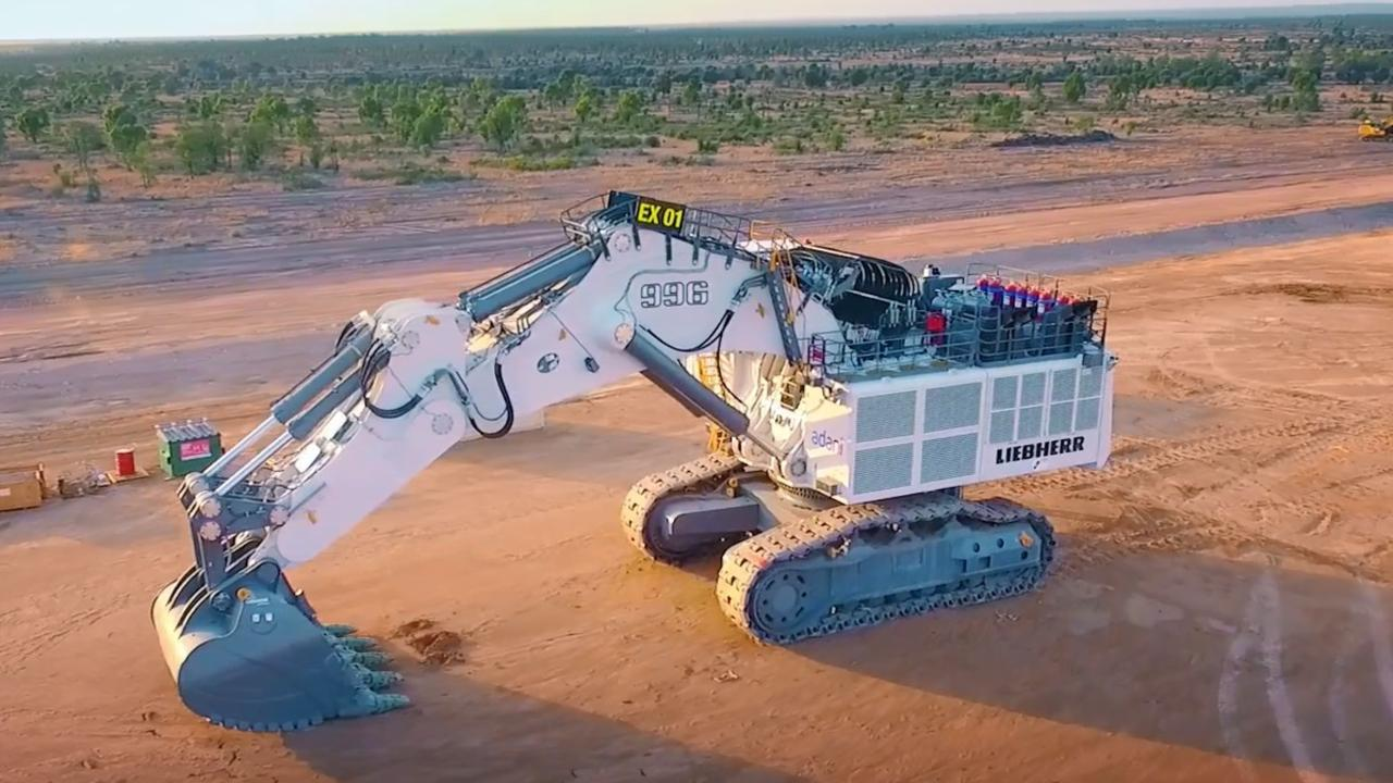 NEW EQUIPMENT: It took eight weeks for Adani Australia to build their massive 600 tonne excavator which will now go to work on the Carmichael Mine Project.
