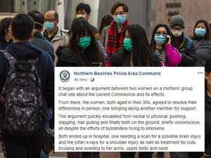 Mums' group coronavirus chat ends in wild brawl