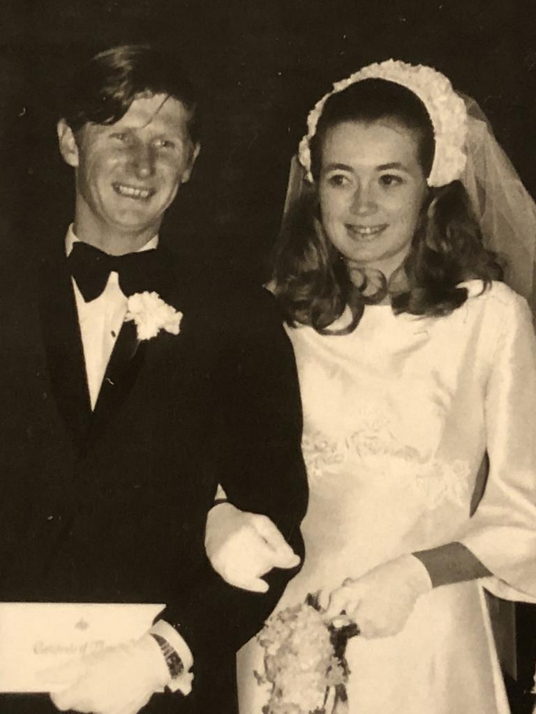 Roxlyn and John Bowie on their wedding day.