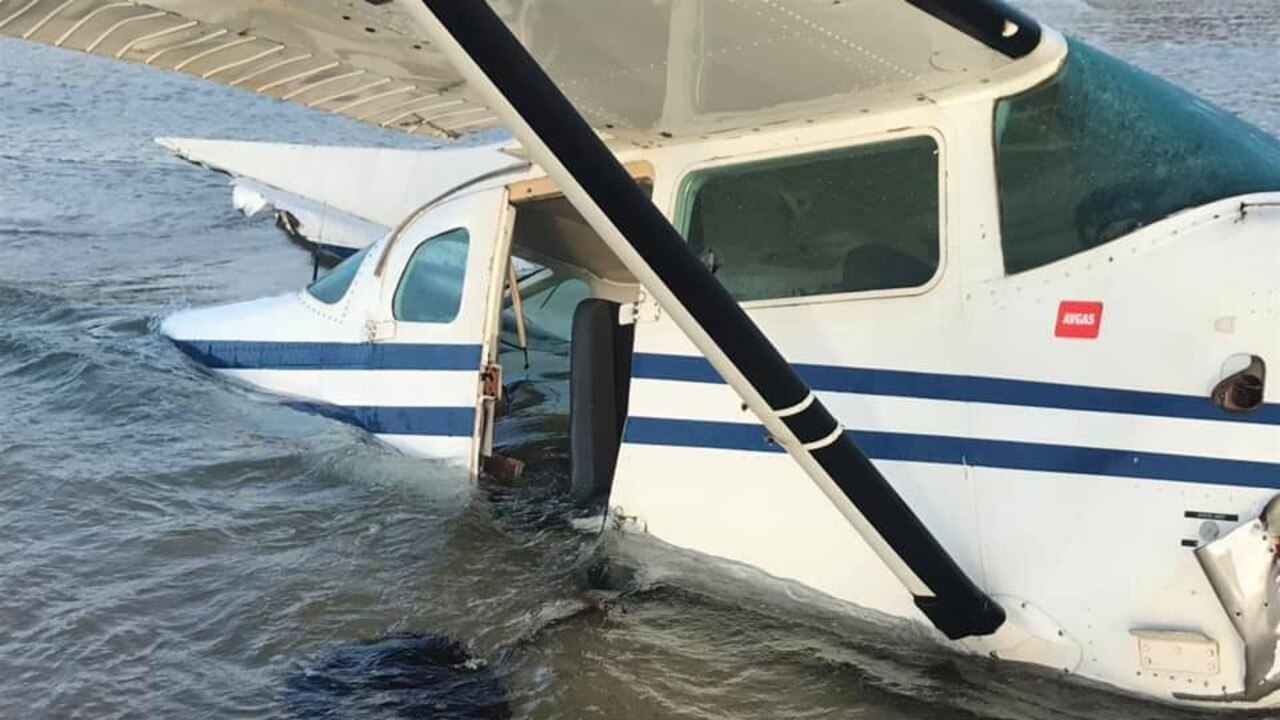 The Air Fraser plane that crashed into the ocean on Wednesday has washed ashore