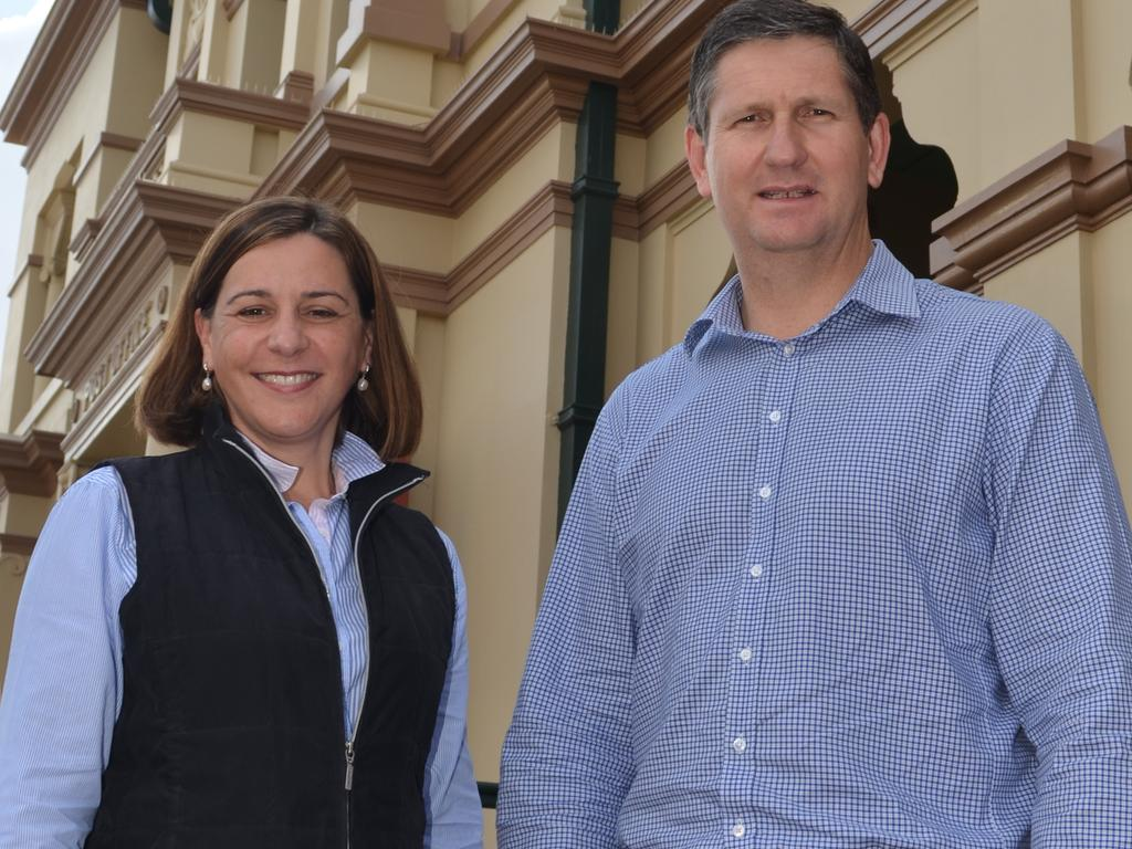 Deb Frecklington hopes not to meet a similar electoral fate to Lawrence Springborg.