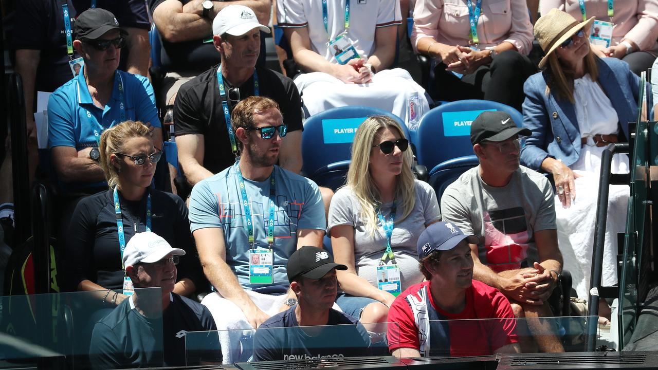 Ash Barty has a big team behind her at the Australian Open title. Picture: Michael Klein