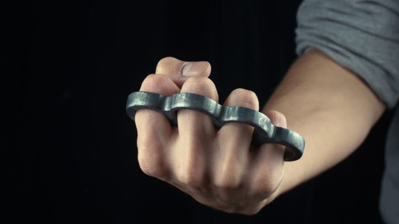 A Gympie man was caught with knuckle dusters in one of many offences he answered to in court this week.