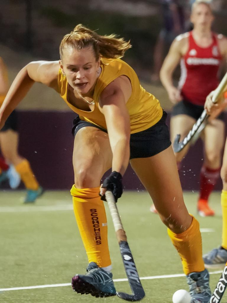 Morgan Mathison against Great Britain. PICTURE: Husted Images