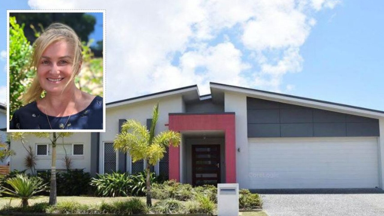 UNDER THE HAMMER: Fran Ryan (inset) is the new owner of 26 Bellanboe Cct, Pelican Waters after she bought the property for $721,000 during a courthouse auction. The State Government had seized the property to recoup a business debt.