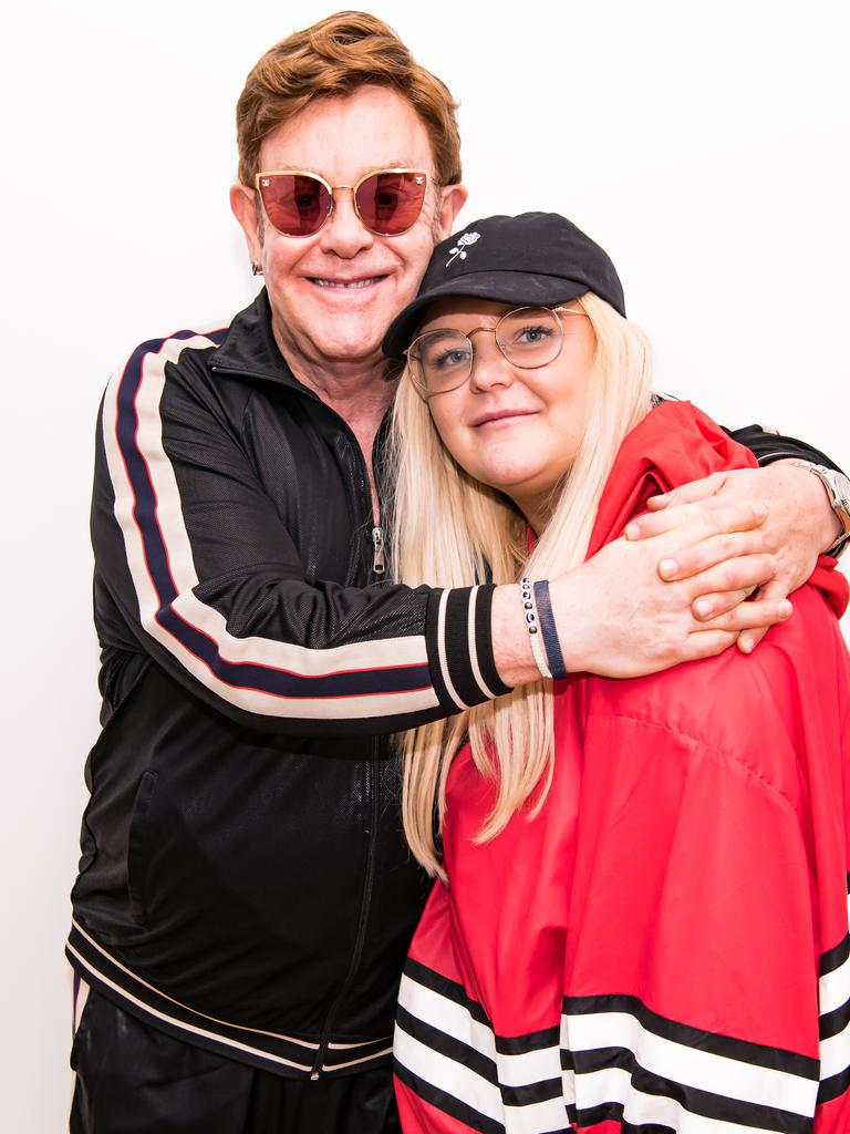 Elton John bonded with Tones And I. Pic: Ben Gibson/Apple Music