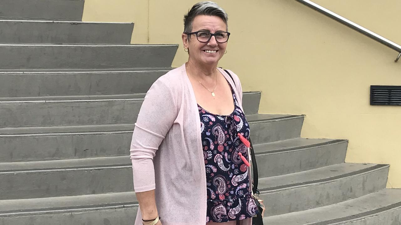 Kay Atkin leaves Mackay courthouse. Photo: Janessa Ekert