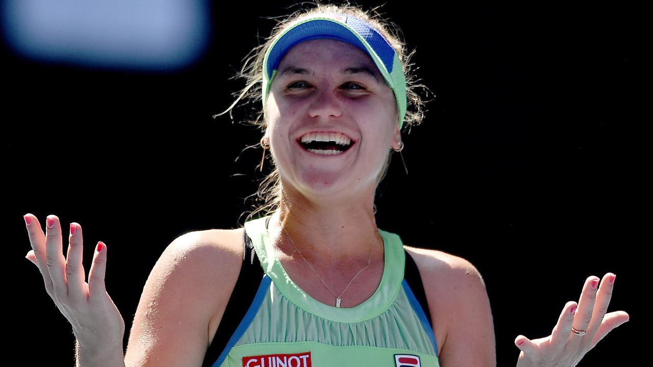 Sofia Kenin stunned Ash Barty to qualify for her first grand slam final. Picture: AAP Image/Lukas Coch
