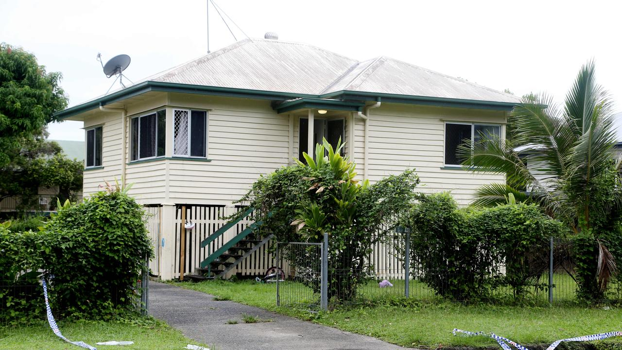 The Downing Street house in Earlville where an alleged stabbing occurred. PICTURE: STEWART MCLEAN